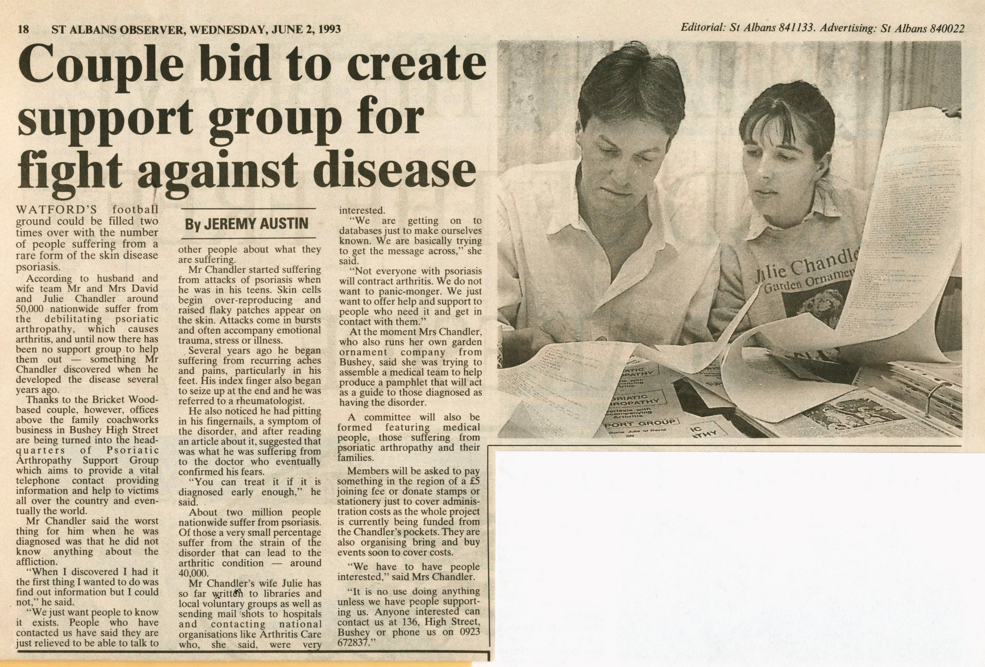 David and Julie Chandler article April 1993
