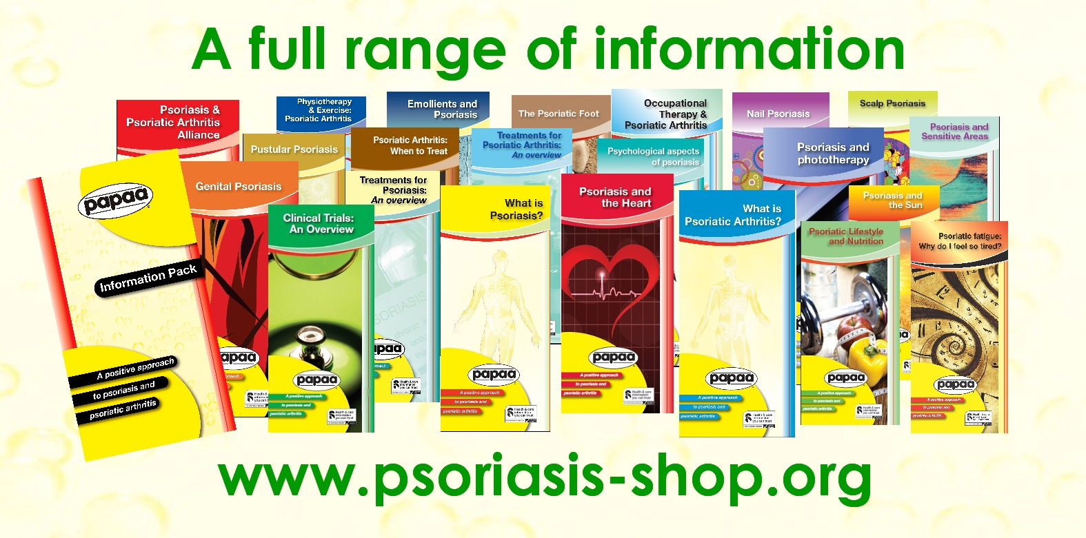 Free psoriasis and psoriatic arthritis information