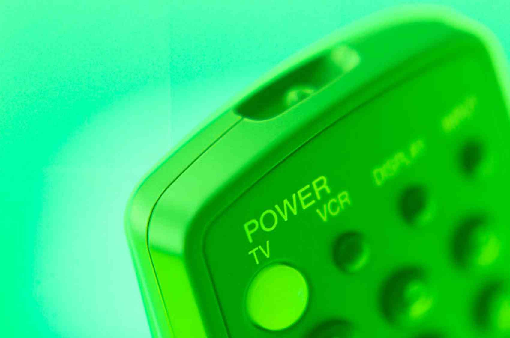 Remote control in green light.jpg